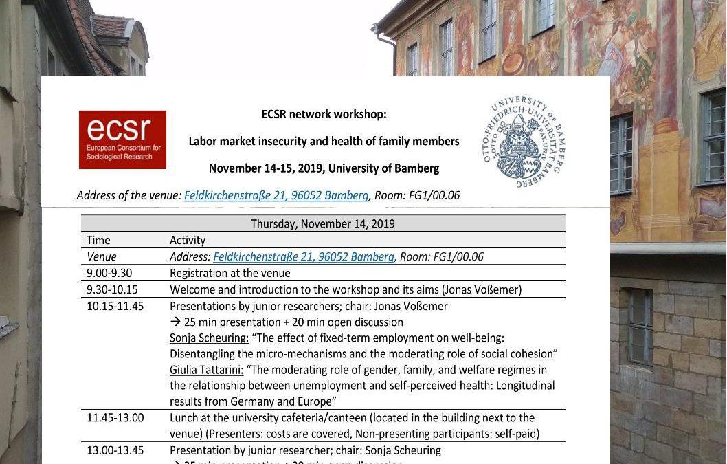 Spotkanie zeuropejskimi badaczami realizującymi międzynarodowe projekty HEALFAM iSECCOPA wBambergu